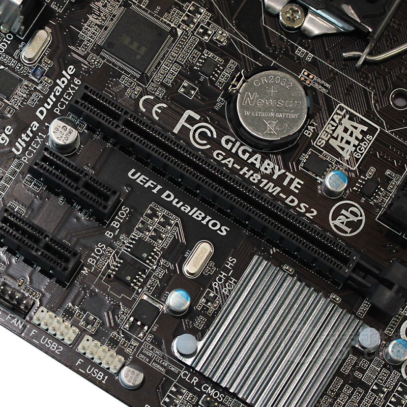 Gigabyte GA H81M DS2 Motherboard For Intel H81 DDR3 USB3 0 16GB LGA 1150 H81M DS2 Desktop Mainboard Systemboard Used SATA III in Motherboards from Computer Office