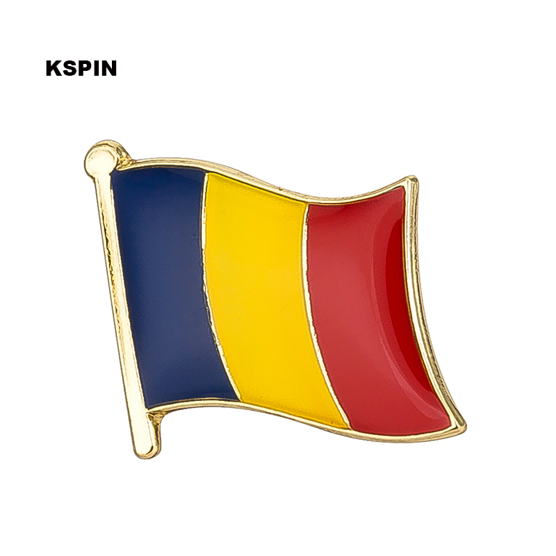 Romania flag lapel pin badge pin 300pcs a lot Brooch Icons KS 0109