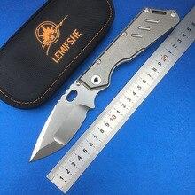 LEMIFSHE MSC SMF XL copper gasket folding knife D2 blade TC4 titanium alloy handle tactical survival fruit knife EDC tool цены