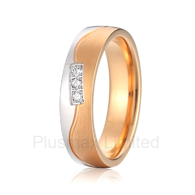 2016 Anel Buy Various High Quality France design pure titanium wedding band rings jewelry for women anel de casamento proudly made in china high quality women gold color cheap pure titanium jewelry wedding band rings