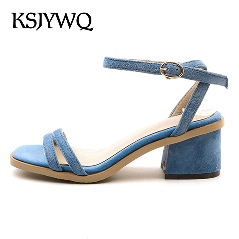 8f06f86f Hebilla Genuino Mujer De Las Mujeres Sandalias 90 Cm Cuero Del caqui Verano  Open Zapatos Embalaje ...