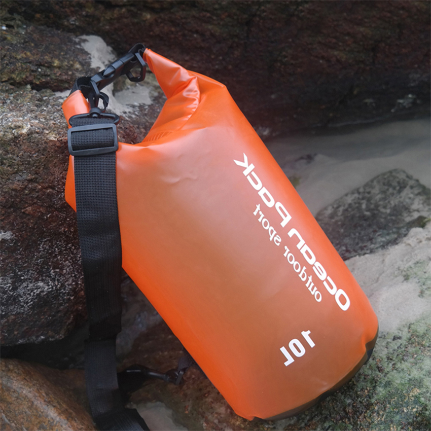 Outdoor Waterproof Dry Bag 2L 5L 10L Swimming Bucket Sack Storage Bag River Trekking Rafting Kayaking Travel Water Barrel