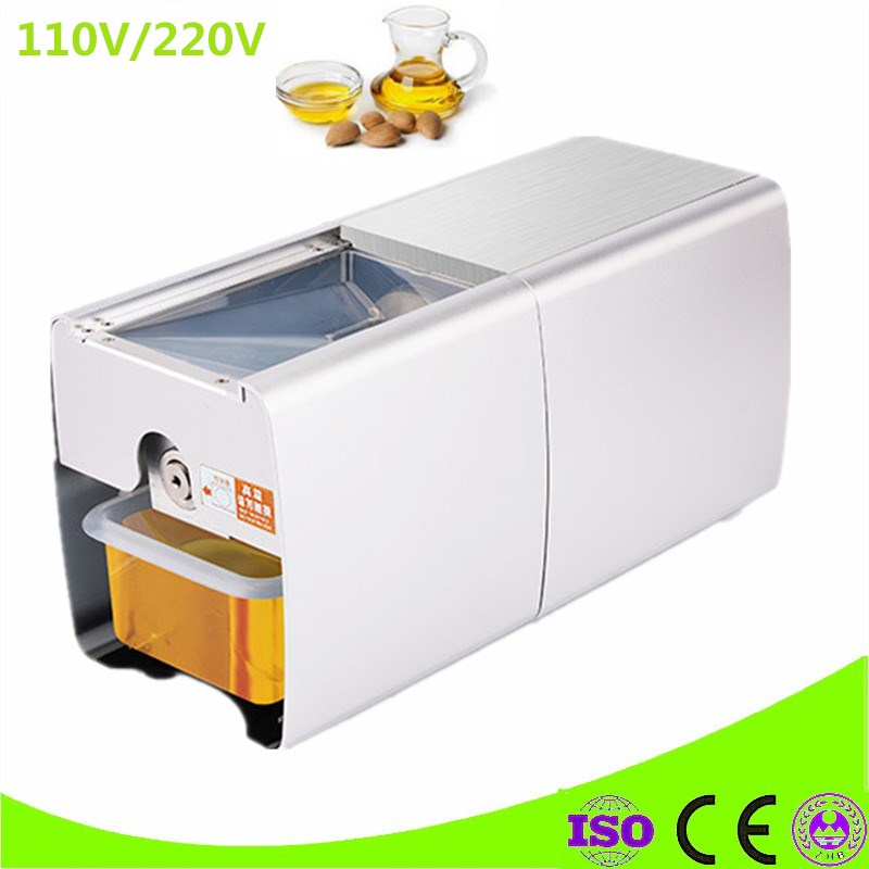 Full Automatic Stainless Steel Small Home 110V/220V Oil Press Machine Cold Hot Press For Peanut Coconut Walnut Flaxseed brand new home cold press small oil screw press machine nut