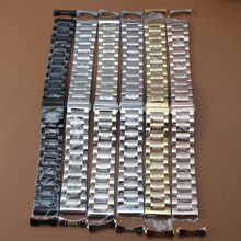 Correa de reloj de 19mm, 20mm, 21mm, 22mm, pulsera de reloj de alta calidad de acero inoxidable, accesorios de reloj, extremos curvos gratis para hombres y mujeres, nuevo
