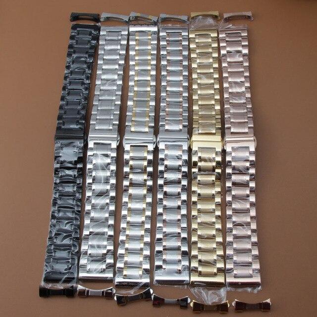 Watchband 19mm 20mm 21mm 22mm zegarek bransoletki wysokiej jakości zegarek ze stali nierdzewnej akcesoria darmowe zakrzywione końcówki dla mężczyzn kobiet nowy