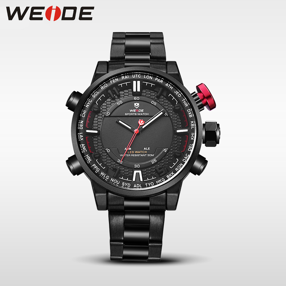 WEIDE Genuine Top mens quartz contracted watches top brand luxury casual sport watches men relogio clock masculino analog watch weide casual genuine luxury brand quartz sport relogio digital masculino watch stainless steel analog men automatic alarm clock