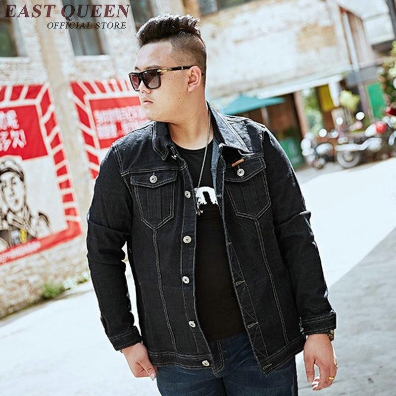 Джинсовая куртка для мужчин 2018 Осенние новые куртки модные джинсы пальто брендовая одежда мужская куртка бомбер Большие размеры KK1841 H - 2