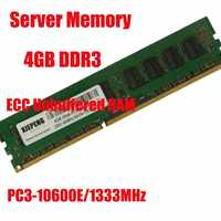 Server memory DDR3 4GB 1333MHz Pure ECC UDIMM Unbuffered RAM 4GB 2RX8 PC3-10600E 10600 for workstation RAM