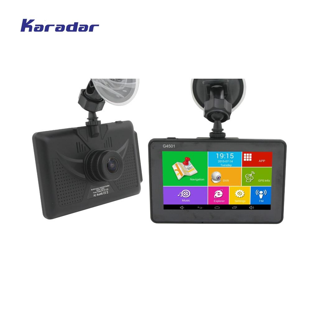 Karadar Android GPS DVR Car Digital Video Recorder 1080P 4.5inch IPS 854*480 Android Navigator Cortex A7*4 1.3GHz