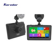 Karadar Android GPS DVR Auto Digital Video Recorder 1080 P 4,5 zoll IPS 854*480 Android Navigator Cortex A7 * 4 1,3 GHz