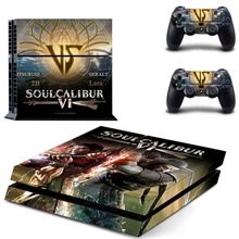 Game Soulcalibur VI Soul Calibur PS4 Skin Sticker Decal Vinyl for Sony Playstation 4 Console and 2 Controllers PS4 Skin Sticker