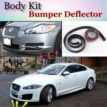 Bumper Lip Deflector Lips For Jaguar XF 2007~2015 Front Spoiler Skirt For TopGear Fans Car View Tuning / Body Kit / Strip