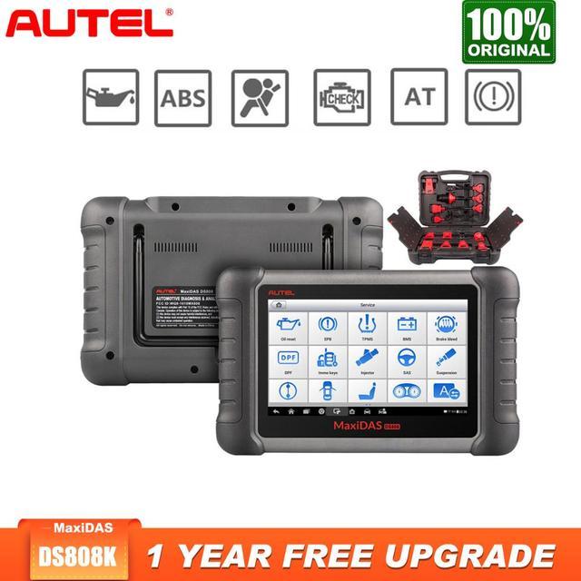 Autel Maxidas DS808K Diagnostic Auto Diagnostic Tool OBD2 Scanner Car Diagnostic Code Reader Upgraded Version of DS808, DS708