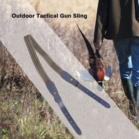 Outdoor Tactical Gun Sling Oxford Leather Shoulder Strap Adjustable Sling Belt Gun Accessories For Hunting Shooting