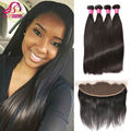13X4 Full Frontal Lace Closure With Bundles Peruvian Virgin Hair With Lace Frontal Ear To Ear Lace Frontal Closure With Bundles