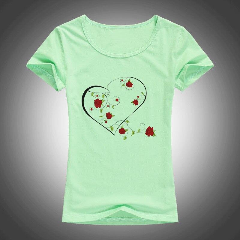 ljetna moda pamučne majice žene LJUBAV ruža vijenac tiskani O - - Ženska odjeća - Foto 5