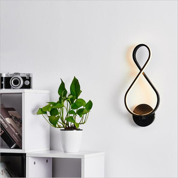 Modern Simple Creative Design Iron Acrylic Led 18W Wall Lamp for Living Room Bedroom Bedside Stair Deco Porch Light H 39cm 2217