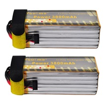 2pcs/lot You&me 22.2V 3800MAH 6S 35C MAX 70C LiPo Battery For RC Helicopter quadcopter
