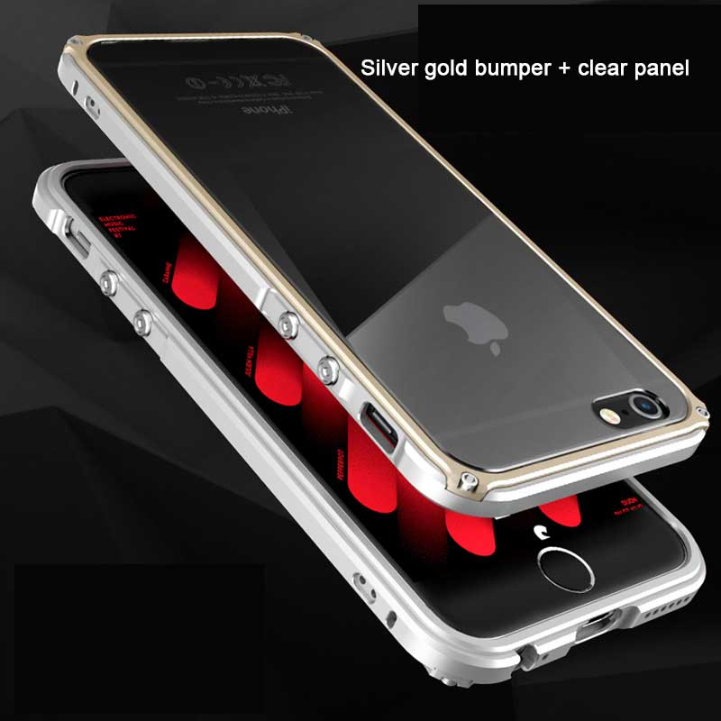 BOBYT for iPhone 6 6s 6plus 6splus Bumper Frame with Back Protective Panel Design Hybrid Casing Fundas Cape Red for iPhone6s