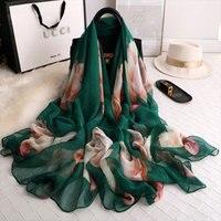 2019 Летний Шелковый шарф для женщин платки и палантины Мода Большие размеры Пашмина из мягкой ткани пляжные палантины шарф хиджаб