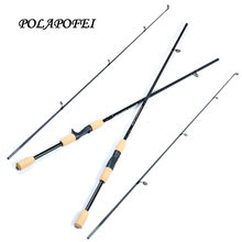 POLAPOFEI 1.8M Spinning Fishing Rod Carbon Fishing Pole Baitcasting Rods Fish Tackle Peche Feeder Daiwa okuma abu garcia E267(China)