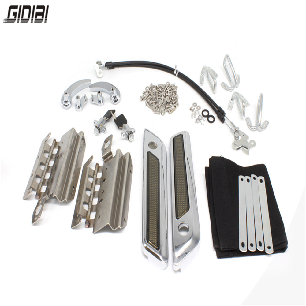 New Latches Cover Hinge Saddlebag Latch Hardware Set Kit For Road King,Street Glide,Electra Glide,Ultra-Classic 2014-2016