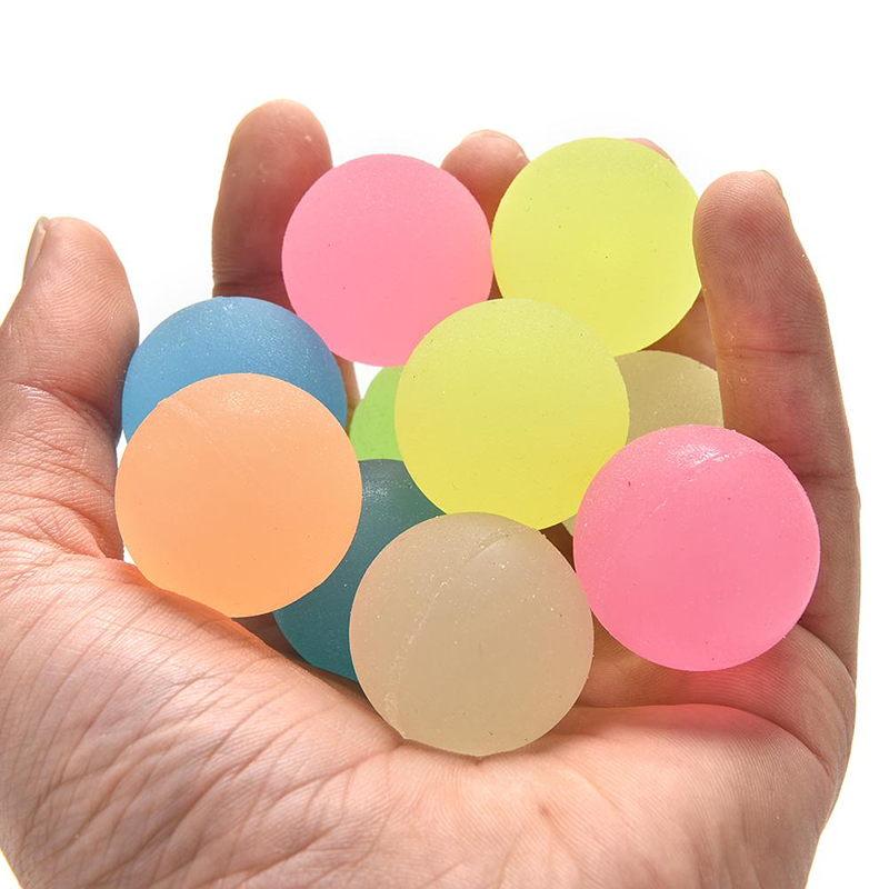 30mm Candy Color Bouncy Ball child elastic rubber ball Children of Colorful pinball family games Fun outdoor toys 100pcs