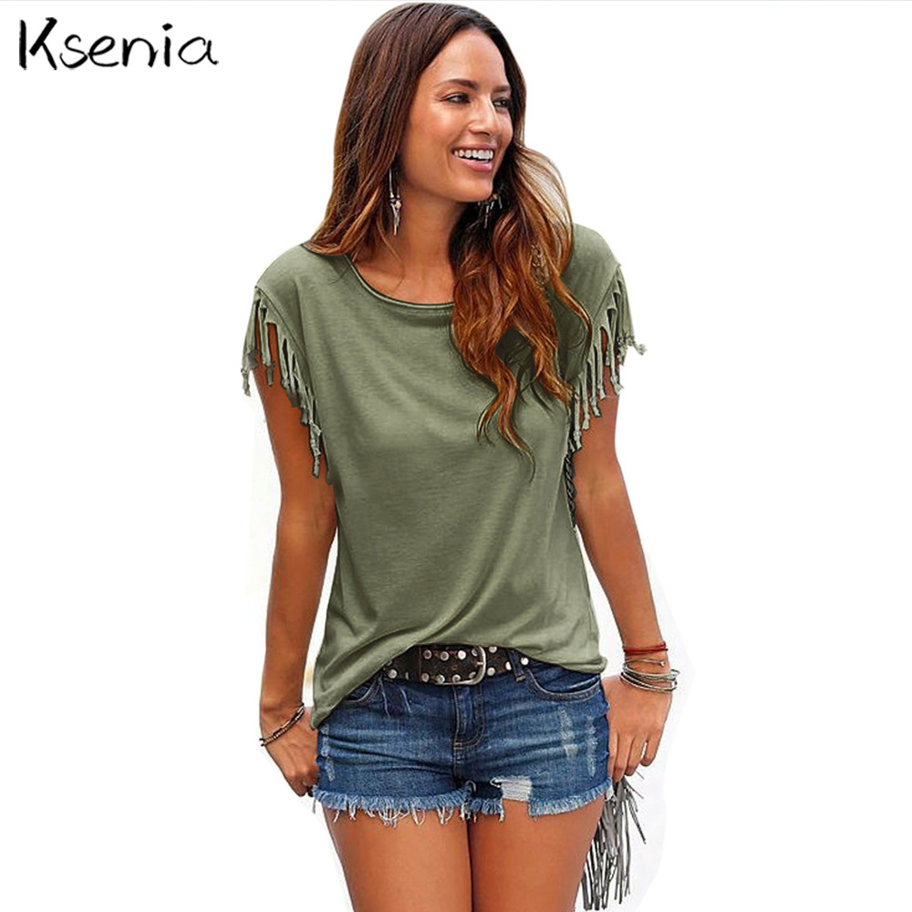 Ksenia Blouses Shirts 2017 Fashion Loose Womens
