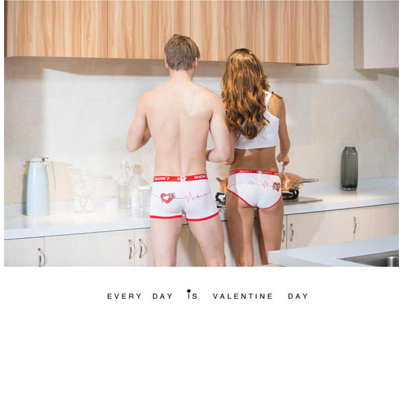 New Lovers Panties Couples Sexy Underwear Men Women Boxer U Pouch Cueca Boxer Shorts Mens Underwear Underpants