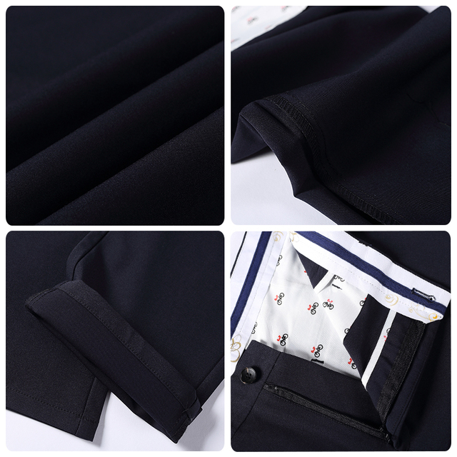 Fashion New High Quality Cotton Men Pants Straight Spring and Summer Long Male Classic Business Casual Trousers Full Length Mid 63