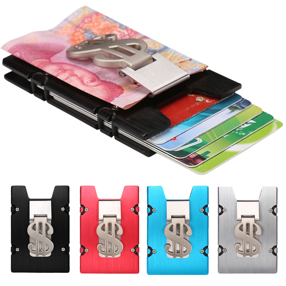 2018 Superior Quality Women Men ID Credit Card business Aluminum Alloy Protector Wallet Card Holder Package Box X# dropship