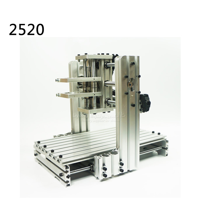 DIY cnc machine frame 2520 aluminum material cnc router kits test well best price cnc router 6090z vfd1 5kw engraving machine with cnc kits cnc machine assembled well already