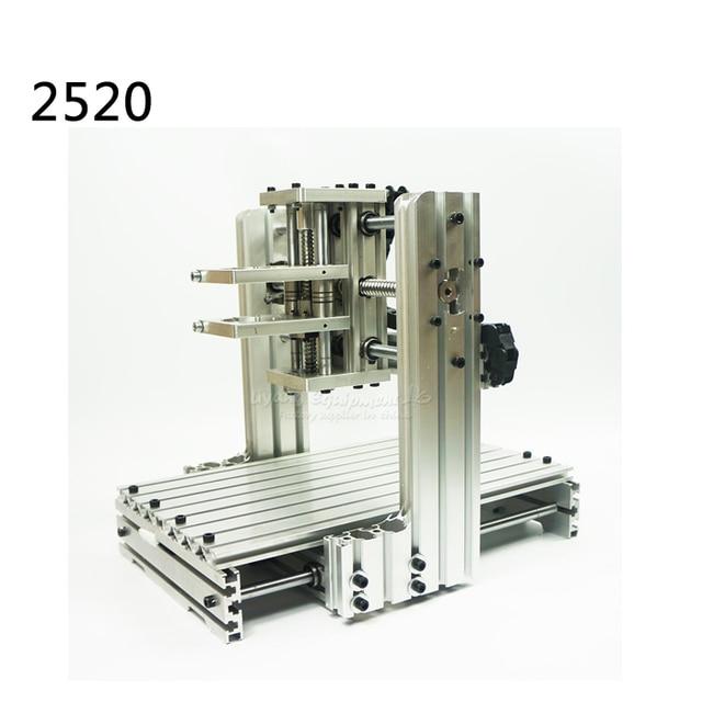 Diy Cnc Machine Frame 2520 Aluminum Material Cnc Router Kits Test