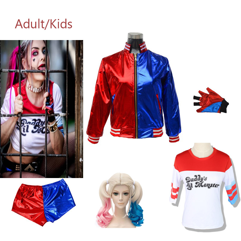Suicide Squad Harley Quinn   Monster T Shirt 2016 Harley Quinn Cosplay Costume Women Tee