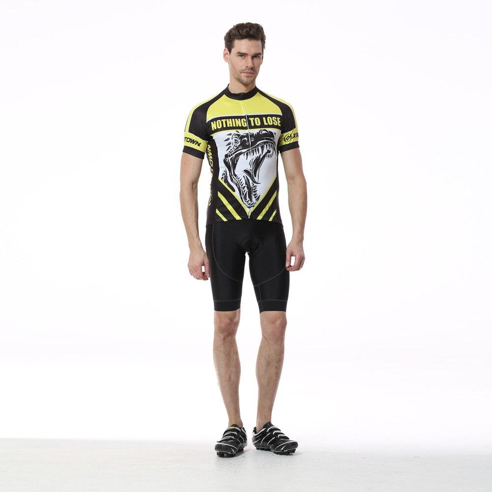 2017 New Summer Men Cycling Set Yellow Short Sleeve Anti-sweat 3D Pad Bib Shorts Bicycle Bike Jersey Suit Sportswear Ciclismo cycling bike bicycle handlebar tape belt wrap w bar plug yellow camouflage 2 pcs