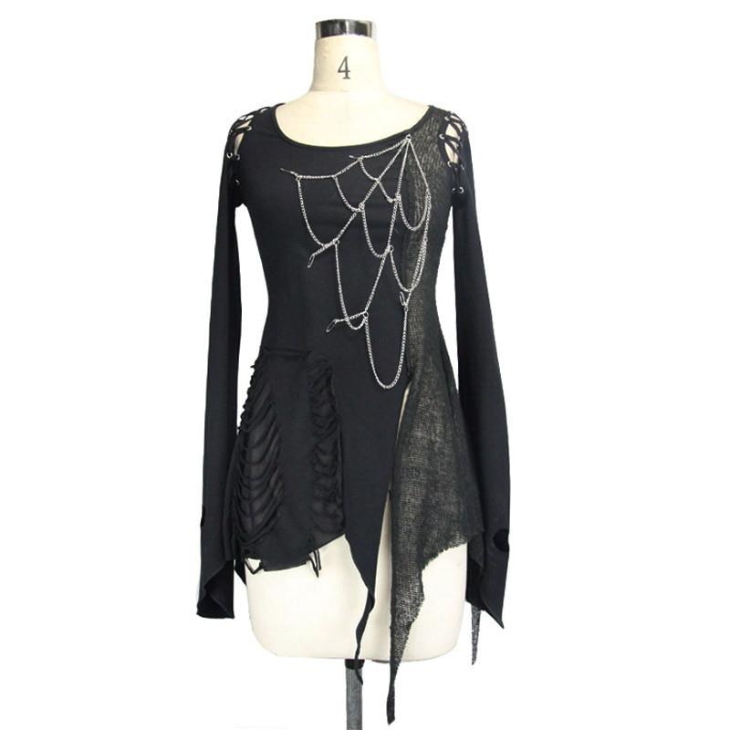 Steampunk Կանացի շապիկներ Gothic Asymmetric Flare - Կանացի հագուստ - Լուսանկար 6