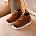 Niñas Botas de 2016 Nuevas Muchachas de Los Muchachos de Los Niños Martin Botas Niños Botines Martin Zapatos botas de Nieve de Cuero de Alta Calidad botas