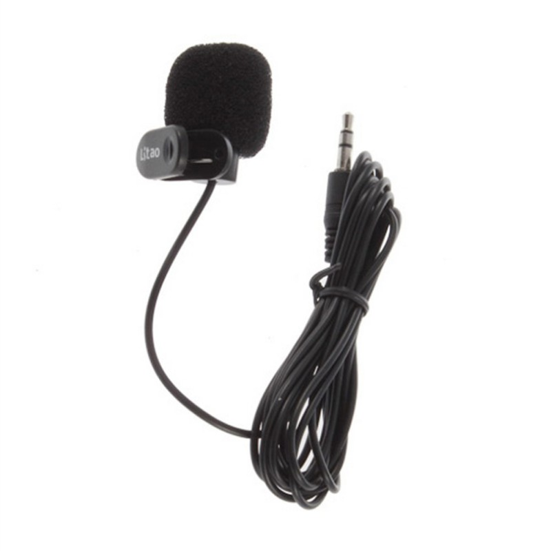 150cm Professional 3.5mm Plug Omni-Directional Stereo Mic Microphone With Collar Clip For Gopro Hero 3 3+ 4 K5