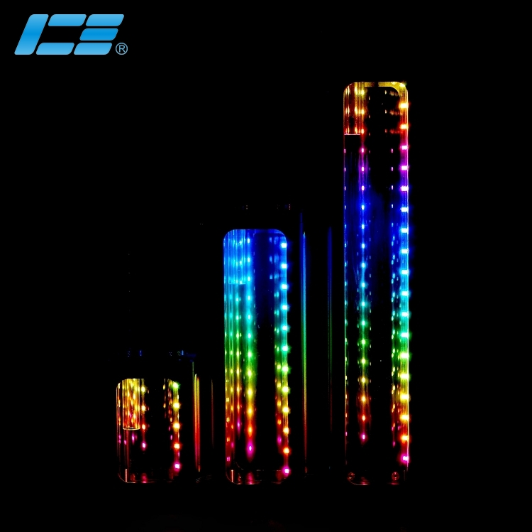 IceManCooler Water Cooling Tank ,computer Case Reservoir ,120mm ,Water Tank With RGB Effect,Cooled Container ICE-RX7