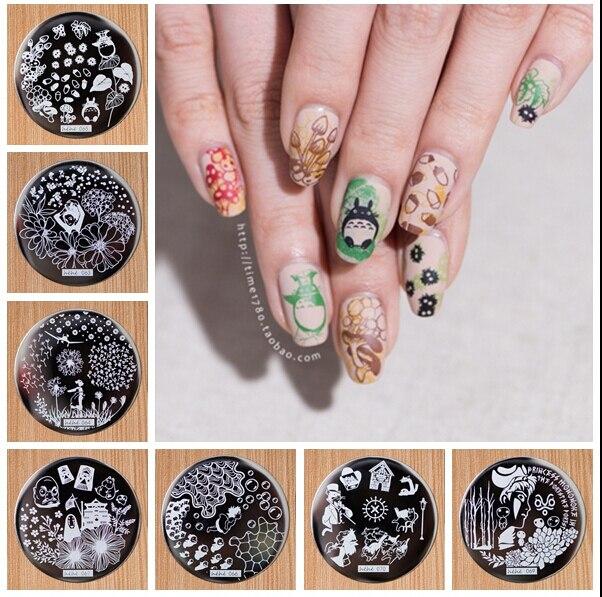 Hehe60 70 Newest Designs 10 Pcs Nail Art Stamping Polish Stamp Manicure Image Plates