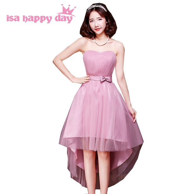 cc26a21759ba blush pink bridesmaid tulle dresses dusty rose sweet heart asymmetric high  low fashion girls party ball