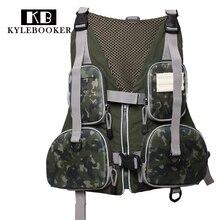 Multi-pocket Fly Fishing  Vest Backpack Mesh Bag Outdoor Handy Adjustable gilet hunting jacket clothes fish tackle