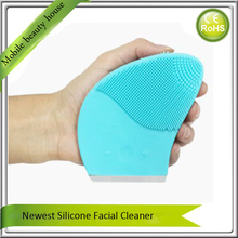5PCS/Lot Sonic Deep Pores Makeup Cleansing Blackhead Removal Electric Vibration Silicone Facial Cleanser And Massaging Brush