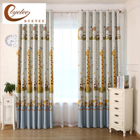 Byetee Cartoon Boy Girl Bedroom Full Shading Printing Curtain Kitchen Blackout Curtains For Children Living
