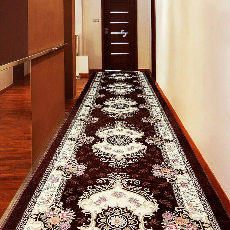 Europe Corridor Carpets Hotel Long Aisle Rug Decorative Entrance/Hallway Doormat Anti-Slip Stair Carpet Wedding Floor Rugs