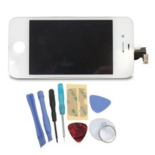 No dead pixels LCD Screen+ Touch Screen Digitizer + Glass Assembly For iPhone 4 Replacement +Tools