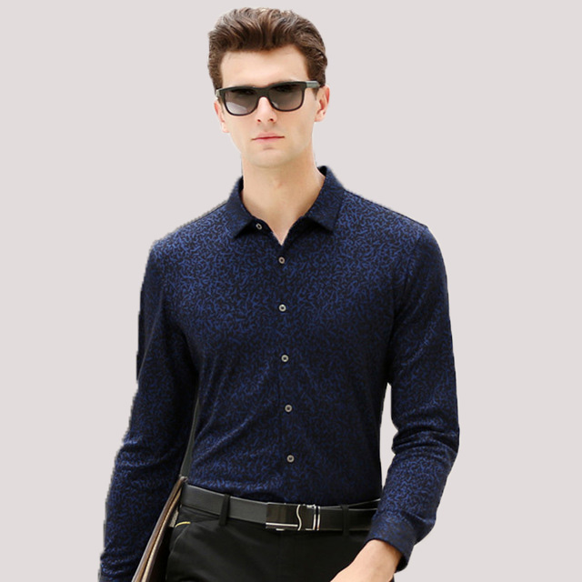 New High Quality Men Autumn Warm Smart Casual   Polo   Shirts Male Classic Long sleeve Top shirts Clothing men XF67826
