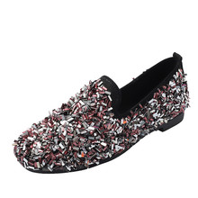 Red Flats Shoes Women Sneakers Spring New Korean Rhinestone Lazy Black Bow Womens Woman Zapatos De Mujer