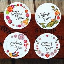 Продажа 120 шт. спасибо цветок подарок sealling этикетки выпечки печать Стикеры студентов Наклейки для вечере подарок мешок конфеты коробка