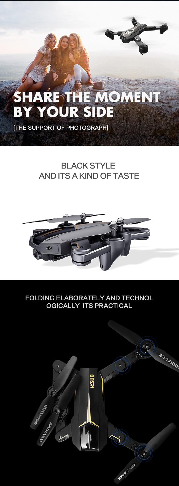 VISUO XS812 GPS Foldable RC Drone Quadcopter